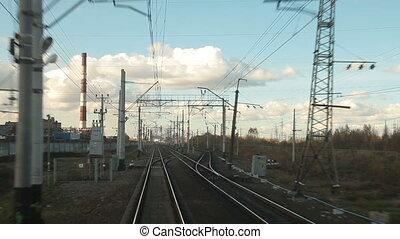 Train St. Petersburg - Moscow - Train between St. Petersburg...