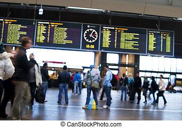Train Station Abstract - Oslo Sentralstasjon, Oslo central...