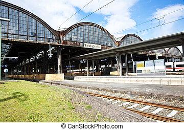 train,  station, fer, classique