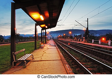 Train station in Bratislava at night - Vinohrady