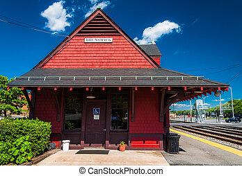Train station in Brunswick, Maryland.