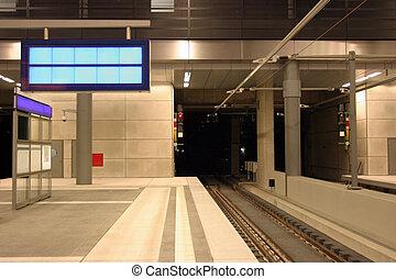 Train station - Modern underground train station