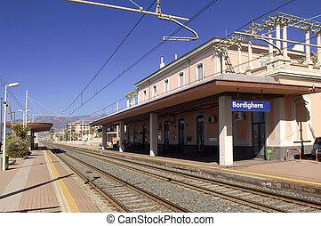 Train station of Bordighera, Italy