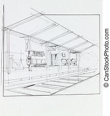 train,  station,  overground