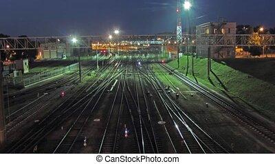 Train Station, timelapse