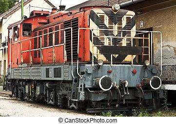 train,  station, vieux