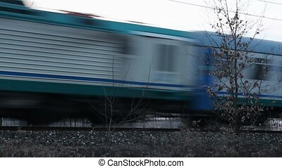Stock Footage of a passing Train