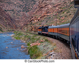 Train Through the Gorge - Train Through Royal Gorge below ...