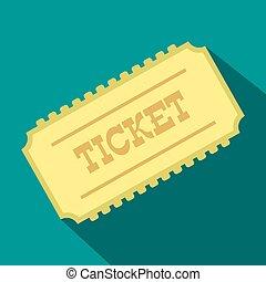 Train ticket flat icon