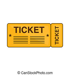 Train ticket icon, cartoon style - Train ticket icon in...