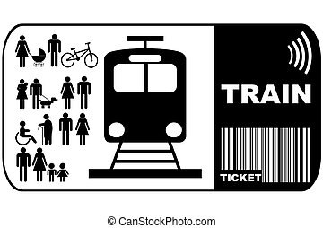 Train ticket isolated on white backgroundticket