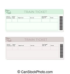 Train Tickets in Two Versions Light Color