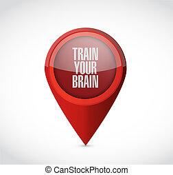 train, ton, cerveau, indicateur, signe, concept