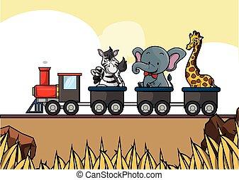 train tour savanah animal safari