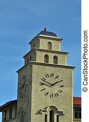 train, tour, station, albuquerque, horloge