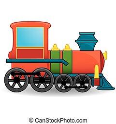train, toy., vector.