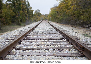 Train Tracks - A horizontal image with train tracks...