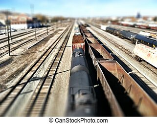 Train, Tracks and Miniature Effect
