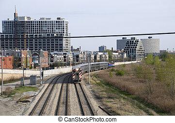 Train Tracks in Chicago