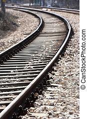 train tracks -   train tracks with selective focus