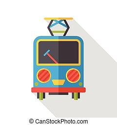 train traffic flat icon