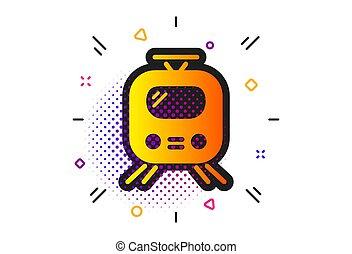 Train transport icon. Public transportation sign. Vector