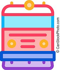 train transport icon vector outline illustration