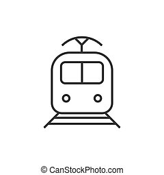 Train transportation icon. Vector illustration. Business concept train pictogram.