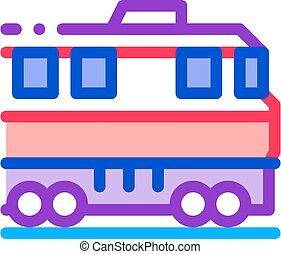 train transportation icon vector outline illustration