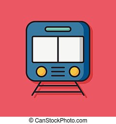 train transportation vector icon