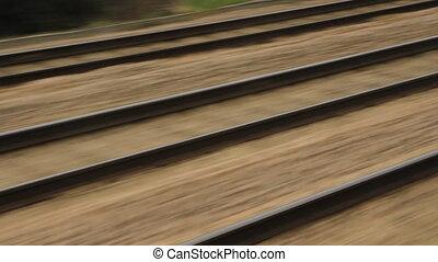Train travel. Train tracks.