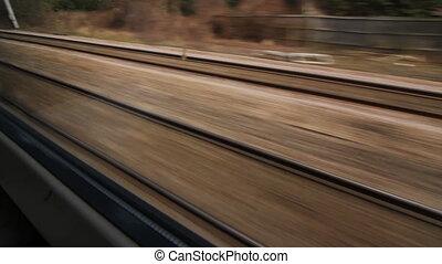 Train travel.