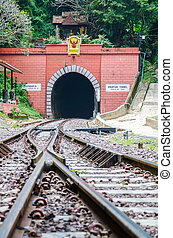 Train tunnel.