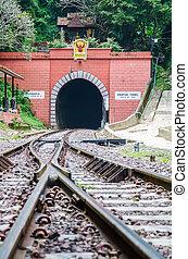 train,  tunnel