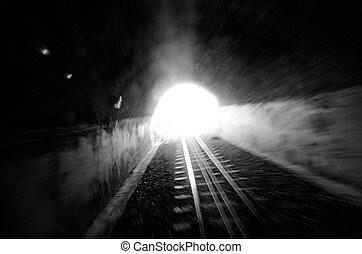 Train tunnle - Light in the end of a train tunnle.