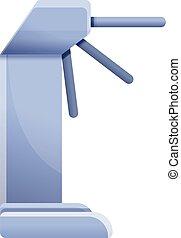 Train turnstile icon, cartoon style