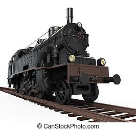 train, vapeur, locomotive