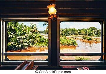 train, vapeur, voyager