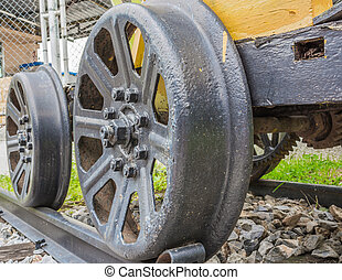 train, vapeur, wheels.