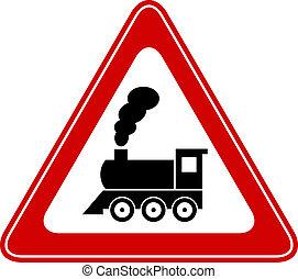 train, vecteur, signe