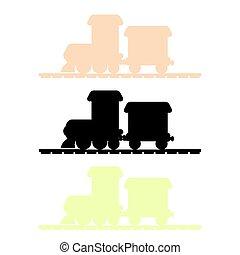 train, vecteur, silhouette