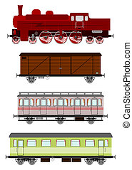 Train - Vintage locomotive and wagons