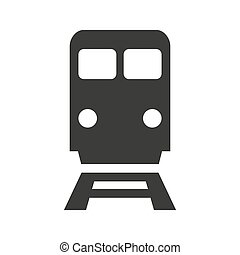 Train vector flat icon on white background.