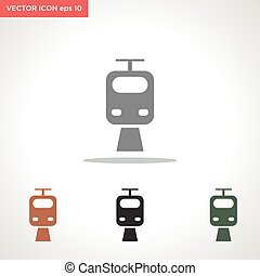 train vector icon isolated on white background