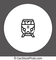 Train vector icon sign symbol