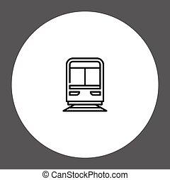 Train vector icon sign symbol