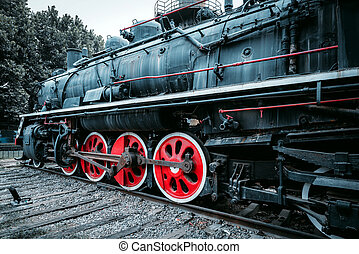 train, vendange, vapeur