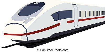 train., vetorial, ilustração, metro, branca