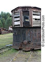 train, vieux, vapeur