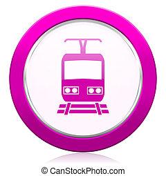train violet icon public transport sign